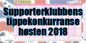 Supporterklubbens Tippekonkurranse Høsten 2018