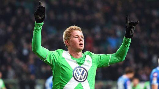 Kevin De Bruyne fikk mange anledninger til å feire også i Wolfsburg
