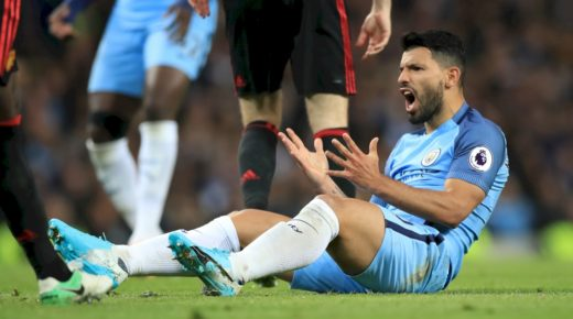 Aguero frustrated