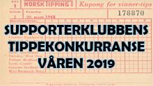 Supporterklubbens Tippekonkurranse Våren 2019