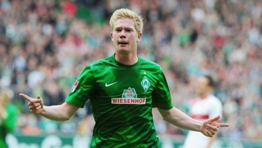 Kevin De Bruyne har nettopp scoret for Werder Bremen.