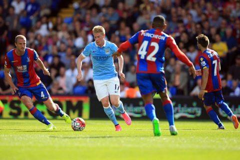 Kevin De Bruynes debut for City kom på Selhurst Park mot Crystal Palace.
