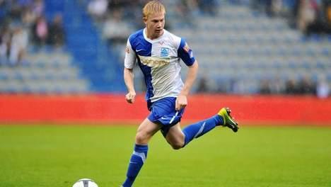 Kevin De Bruyne fra en kamp mot Charleroi i august 2010 da han scoret to mål.